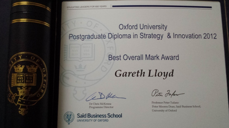 Oxford Postgrad DipSI Award